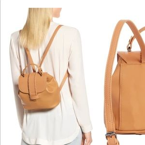 Nordstrom Bags - Whip stitch faux leather backpack